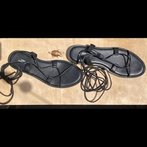 Urban Outfitters lace up leather Gladiator Sandals